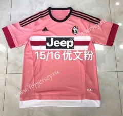 Retro Version 15-16 Juventus Away Pink Thailand Soccer Jersey AAA-608