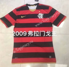 Retro Version 2009 Flamengo Home Red and Black Thailand Soccer Jersey AAA-826