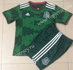 2021-2022 Mexico Home Green Soccer Uniform-AY