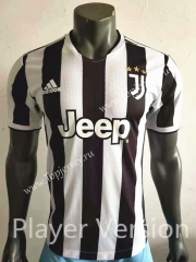 Player Version 2021-2022 Juventus Home Black&White Thailand Soccer Jersey AAA