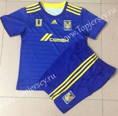 2021-2022 Tigres UANL Away Blue Soccer Uniform-AY