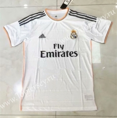 Retro Version 13-14 Real Madrid Home White Thailand Soccer Jersey AAA-826