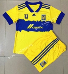 2021-2022 Tigres UANL Home Yellow Soccer Uniform-AY