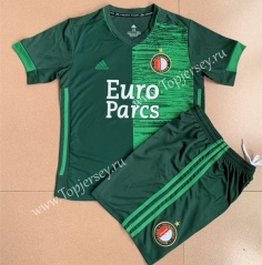 2021-2022 Feyenoord Rotterdam Away Green Soccer Uniform-AY