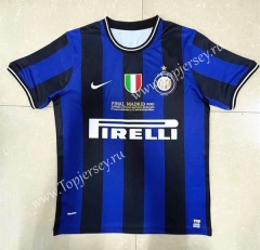 Retro Version 09-10 Inter Milan Home Blue&Black Thailand Soccer Jersey AAA-818