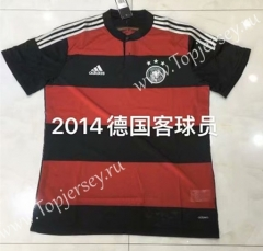 Player Version 2014 Retro Version Germany Away Red&Black Thailand Soccer Jersey AAA-826