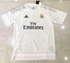 Retro Version 15-16 Real Madrid Home White Thailand Soccer Jersey AAA-826