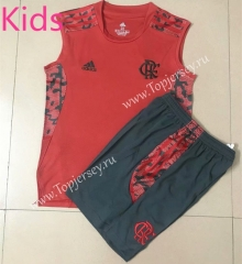 2021-2022 Flamengo Red Kids/Youth Vest Soccer Uniform-AY