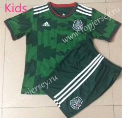 2021-2022 Mexico Home Green Kids/Youth Soccer Uniform-AY