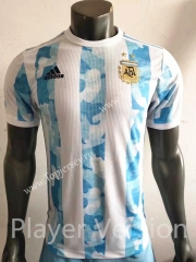 Player Version 2021-2022 Argentina Home Blue and White Thailand Soccer Jersey AAA