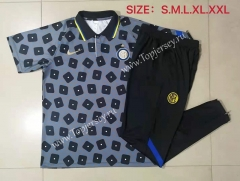 2021-2022 Inter Milan Gray (pad printing) Thailand Polo Uniform-815