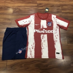 2021-2022 Atletico Madrid Home Red & White Soccer Uniform -QY
