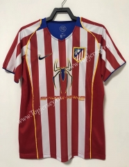 Retro Version 04-05 Atletico Madrid Home Red & White Thailand Soccer Jersey AAA-811