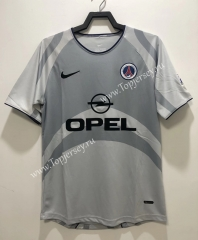 Retro Version 2001 Paris SG Away Gray Thailand Soccer Jersey AAA-811