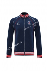 2021-2022 Jordan Paris SG Royal Blue Thailand Soccer Jacket -LH