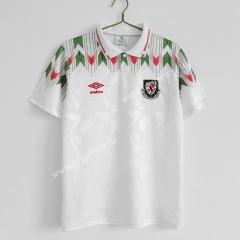 Retro Version 90-92 Wales Away White Thailand Soccer Jersey AAA-C1046