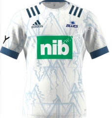 2021 Blues Away White Thailand Rugby Shirt