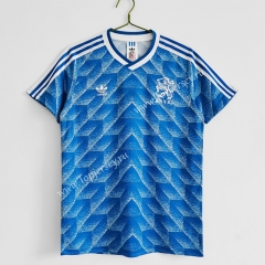 Retro Version 1988 Netherlands Away Blue Thailand Soccer Jersey AAA-C1046