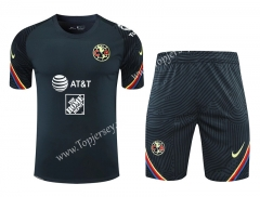 2020-2021 Club América Royal Blue Thailand Training Soccer Uniform AAA-418
