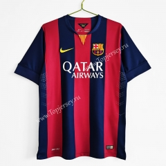 Retro Version 2014-2015 Barcelona Home Red&Blue Thailand Soccer Jersey AAA-C1046