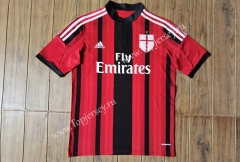 Retro Version 14-15 AC Milan Home Red&Black Thailand Soccer Jersey AAA