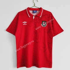 Retro Version 92-94 Wales Home Red Thailand Soccer Jersey AAA-C1046
