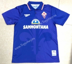 Retro Version 95-96 Fiorentina Home Blue Thailand Soccer Jersey AAA-HR
