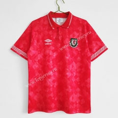 Retro Version 90-92 Wales Home Red Thailand Soccer Jersey AAA-C1046