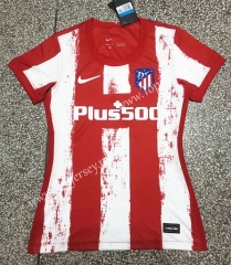 2021-2022 Atletico Madrid Home Red & White Women Thailand Soccer Jersey AAA