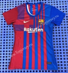 2021-2022 Barcelona Home Red&Blue Women Thailand Soccer Jersey AAA