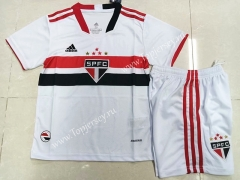 2021-2022 Sao Paulo Home White Kids/Youth Soccer Unifrom-507