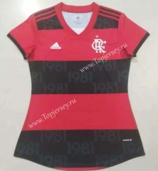 2021-2022 Flamengo Home Red and Black Women Thailand Soccer Jersey AAA