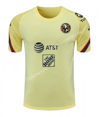 2021-2022 Club América Yellow Thailand Training Soccer Jersey AAA-418