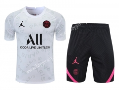 2021-2022 Jordan Paris SG White Thailand Training Soccer Uniform AAA-418