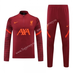 2021-2022 Liverpool Red Thailand Soccer Tracksuit-418