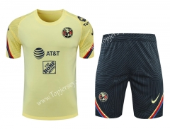 2021-2022 Club América Yellow Thailand Training Soccer Uniform AAA-418