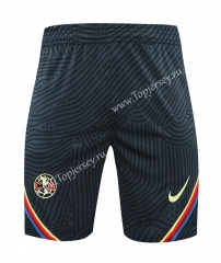 2021-2022 Club América Black Thailand Training Soccer Shorts AAA-418