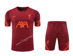 2021-2022 Liverpool Red Thailand Training Soccer Uniform AAA-418