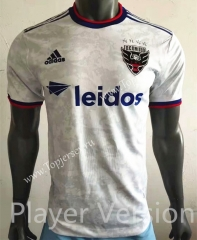 Player Version 2021-2022 D.C. United White Thailand Soccer Jersey AAA