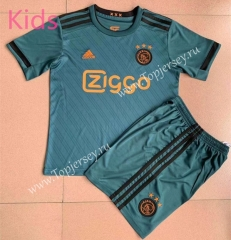 2021-2022 Ajax Away Green Kids/Youth Soccer Uniform-AY