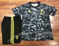 2021-2022 Juventus Gray&Black Training Soccer Uniform-709