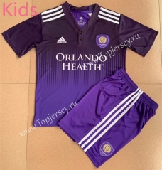 2021-2022 Orlando City Home Purple Kids/Youth Soccer Uniform-AY