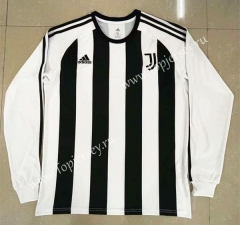 Retro Version Juventus Home White LS Thailand Soccer Jersey AAA-818