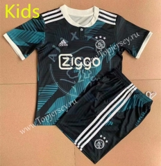 2021-2022 Gainian Version Ajax Black& Green Kids/Youth Soccer Uniform-AY