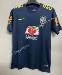 2021-2022 Brazil Royal Blue Thailand Training Soccer Jersey AAA-711