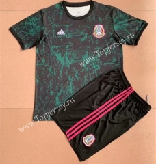 2021-2022 Mexico Dark Green Training Kids/Youth Soccer Uniform-AY