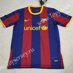 Retro Version 10-11 Barcelona Home Red&Blue Thailand Soccer Jersey AAA-HR