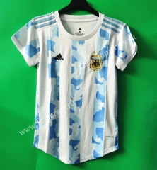 2021-2022 Argentina Home Blue and White Women Thailand Soccer Jersey AAA-802