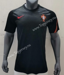 2021-2022 Portugal Black Thailand Soccer Training Jersey -416