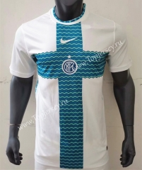 2021-2022 Inter Milan White&Green Thailand Training Soccer Jersey AAA-416
